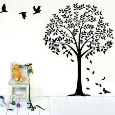 Large Family Jungle Tree Birds Wall Decal sticker Home decor DIY Vinyl art mural