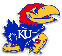 "Kansas Jayhawks- University of Kansas Jayhawk ""Big Jay"" Mascot MAGNET"