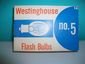 Westinghouse No.5 Flash Bulbs in Original Package
