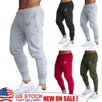 Men's Sport Pants Long Trousers Tracksuit Fitness Joggers Gym Sweatpants Workout
