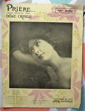 Valse Boston par Octave Crémieux - Prière - Illustration Geo Dorival - 1906