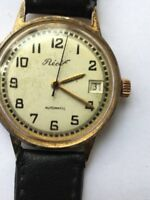 Vintage RARE Men RECIF RUBIS DATE  AUTOMATIC Watch SWISS MADE INCABLOCK ETA
