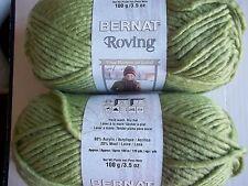 Bernat Roving bulky wool blend yarn, Clover, lot of 2 (120 yds each)