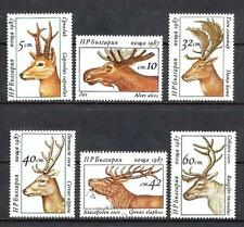 Bulgarie 1987 Félins (140) Yvert n° 3095 à 3100 oblitéré used