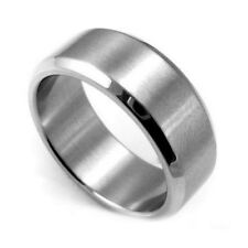 Mens Stainless Steel Band - Stainless Steel Ring Size 9