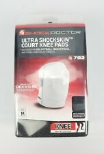 Shock Doctor Ultra ShockSkin Volleyball Basketball Court Knee Pads Pair White M