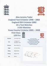 ALEX TUDOR ENGLAND TEST CRICKETER 1998-2002 ORIGINAL AUTOGRAPH