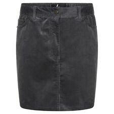 DeMIna Grey Corduroy Cord Mini Skirt 8-18 Lula