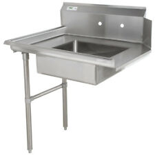 """Commercial Stainless Steel Left Side Dirty Soiled 48"""" Dish Washer Table Sink 4'"""