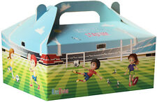 Kids Party FOOD BOXES lolly loot box Sports Theme design- 10 Pack