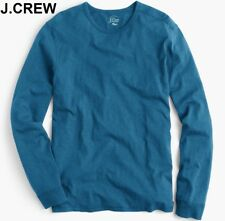 New J.CREW long sleeve basic t-shirt textured cobalt blue royal teal tee neck S
