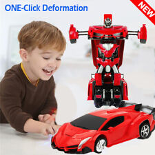 1:18 Transformer Rc Robot Car Remote Control 2 In 1 Kids Boys Toy Xmas Gift Us