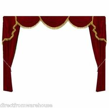 Decorative Stage Curtain ST1 Luxury Movie Theater Style Velvet Drape 12'W X8'H