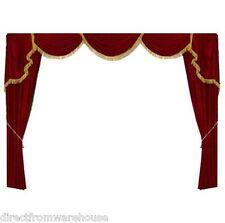 Decorative Burgundy Curtain ST1 Luxury Home Theater Velvet Screen Drape 10'WX7'H