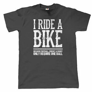 I Ride A Bike Mens Funny Biker T Shirt - Gift for Dad Superbike MotoGP TT MotoX