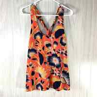 J. Crew Silk Tank Top Shell Women's Size 6 Black Label Hibiscus Floral