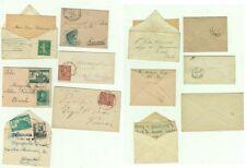 GG1137-LOTTO DI 6 MINI BUSTE, ALCUNE CON CENSURA, ITALIANE E STRANIERE,1876-1937