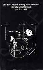 Buddy Rich First Annual Buddy Rich Memorial Scholarship Concert Program 4/3/1989