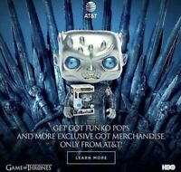 IN HAND w/ Free Protector Metallic Night King Funko Pop AT&T Game Of Thrones