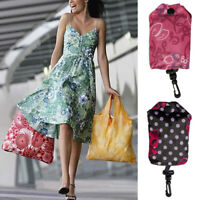 Travel Foldable Handbag Grocery Tote Pouch Storage Reusable Shopping Bags Nylon