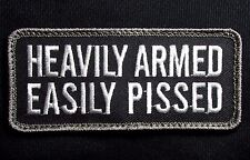 HEAVILY ARMED EASILY PISSED 2ND AMENDMENT SWAT BADGE VELCRO® BRAND PATCH