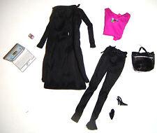 Barbie Fashion Sleek Black Pantsuit For Model Muse Barbie Dolls mc00