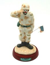 """Emmett Kelly Jr Collection """"On Maneuvers"""" Limited Edition Clown Soldier Figure"""