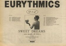 26/2/83PN19 ADVERT: EURYTHMICS SWEET DREAMS ARE MADE 0F THIS 7X11