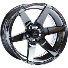 """Cosmis Racing S1 Black Chrome Wheel 18x9.5"""" ET15 5x114.3 (per wheel)"""