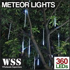 Christmas Meteor Lights 10 Tube 50cm 360 LED Shower SSA APPROVED - WHITE