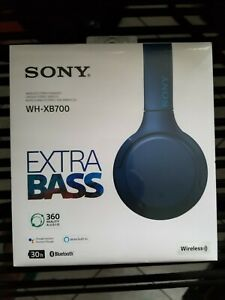 NEW Sony WH-XB700 Wireless Over-Ear Stereo Headset Bluetooth Headphone - Blue