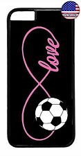 Soccer Girl Case Black Pink Love Cute Sport Cover For Apple iPhone 7 8 Plus