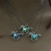 Hollow Necklace Hollow Animal Horse Pendant Luminous Jewelry Glow in the Dark