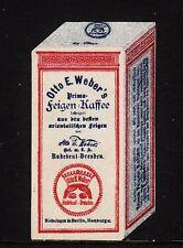 46013/ Reklamemarke - Otto E. Webers Feigen-Kaffee - Radebeul-Dresden