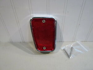 NEW 1967-1969 FORD F-100/250 TRUCK LH REAR CHROME/RED REFLECTOR....RANGER