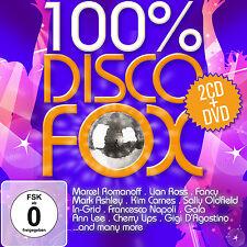 CD DVD Disco Fox 100 Prozent  von Various Artists 2CDs und Tanzkurs DVD