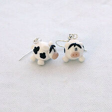 cow earrings moo cute handmade emo goth xmas gift drops Easter