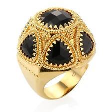 New Rebecca Hydro Onyx Domed Elegance Ring ~ (1)Size 6 & (1)Size 7
