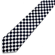 NEW PUNK ROCK SKATER SKINNY NECKTIE TIE ~ BLACK WHITE PINK PURPLE RED CHECKERS #