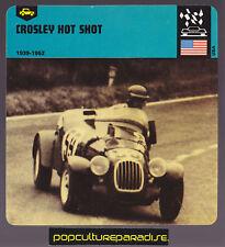 1939-1952 CROSLEY HOT SHOT Car 1978 AUTO RALLY CARD