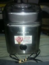 Cuisinart Stainless 2 Quart Ice Cream Maker Works Perfectly