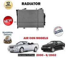 für Mercedes CLK200 CLK230 Kompressor 163bhp 197bhp 2000 - 6/2002 NEU Kühler