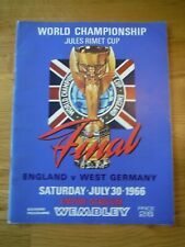 More details for original 1966 world cup final programme - excellent condition - no writing