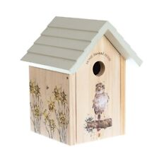 Wrendale Designs Sparrow Bird House - Solid Wood Nest Box 32mm Opening