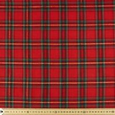 RED CHRISTMAS PLAID GOLD METALLIC QUILTING FABRIC NO. 11