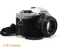 MINOLTA XG-M 35MM SLR CAMERA + MD MINOLTA 50MM F1.7 LENTILLE MENTHE