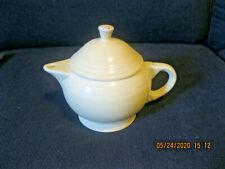 "Fiesta Ware Fiestaware Persimmon Yellow Enamel Tea Kettle Teapot 7.5"""