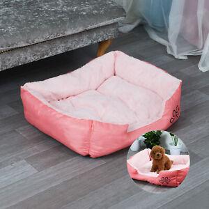 Washable Dog Bed Pet Cat Puppy Arctic Soft Warm Kennel Mat Pink Velvet Cushion
