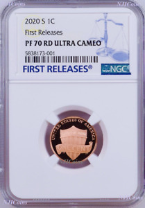 2020 S Proof LINCOLN CENT Penny NGC PF70 RD FR Blue Label Shield Side Up