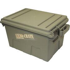 Ammunition Storage Crate Plastic Utility Box Ammo Hunting Gear Lockable Tote Bin